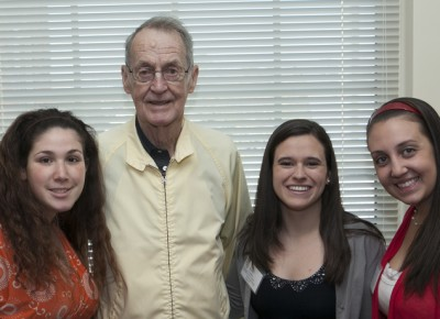 James Sheehan with Worcester State honors students in 2013