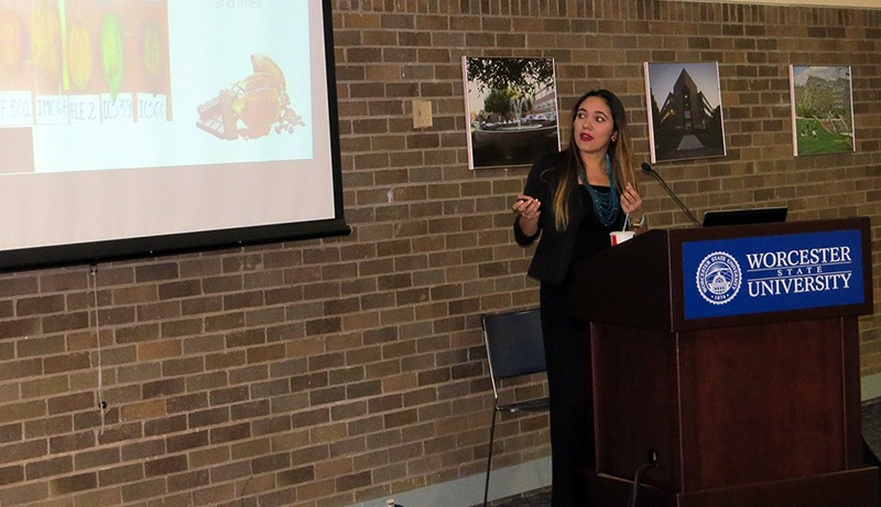 Deicy Carolina Muñoz-Agudelo gives the lecture