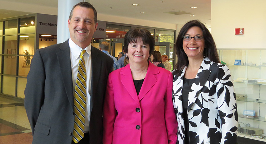 Area school superintendents Darryll McCall, Maureen Binienda, and Nadine Ekstrom