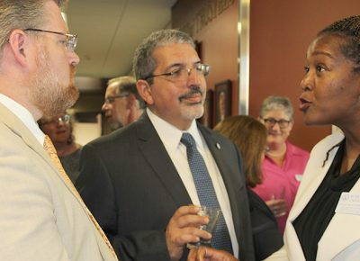 Quinsigamond Community College President Luis Pedraja at Worcester State University