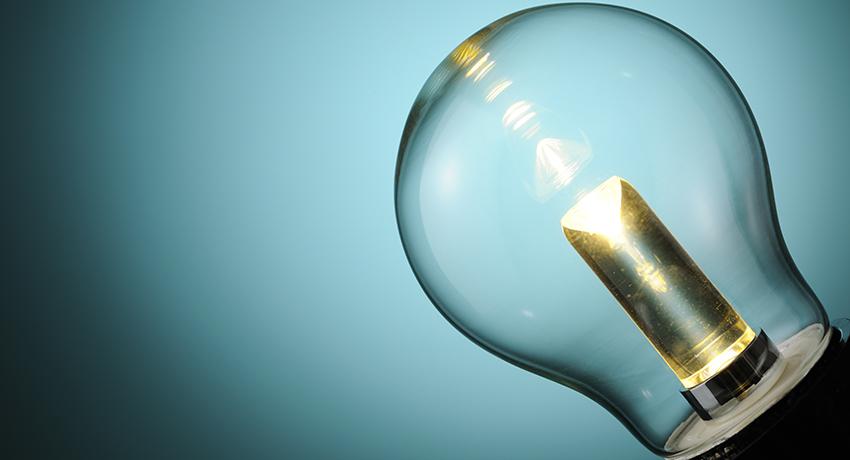 Illuminated LED light bulb