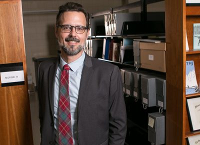 Worcester State University Associate Librarian Ross Griffiths