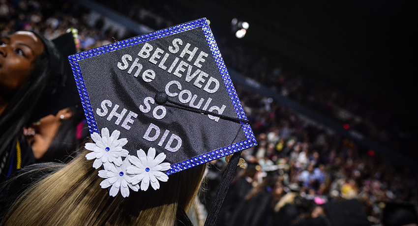 A snapshot of the 2017 undergraduate commencement