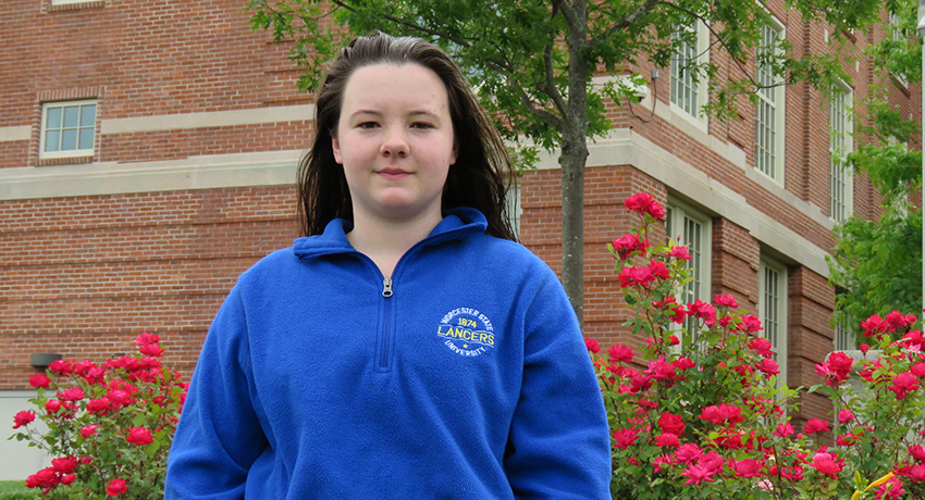 Worcester State student Katelyn Duca