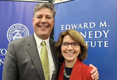 Barry Maloney and Mary K. Grant, EMK president